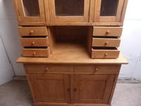 Beautifully Waxed Antique Pine 3 Door 6 Spice Drawer Kitchen Dresser (5 of 7)