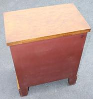 1940s Walnut Batchelors Chest Drawers with Table Top (6 of 6)