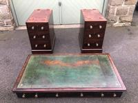 Antique Mahogany Pedestal Writing Desk (11 of 11)
