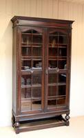 Tall Oak Glazed Bookcase (3 of 10)