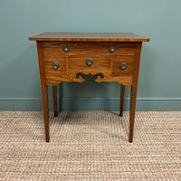 Fine Antique Edwardian Mahogany Antique Side Table / Lowboy