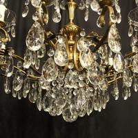 French Gilt & Crystal 12 Light Antique Chandelier Oka04051 (9 of 10)