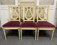 Set of 6 Harp Back French Dining Chairs (2 of 17)