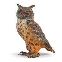 Austrian Cold Painted Bronze Owl Attributed to Franz Xavier Bergman