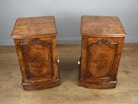 Fine Pair of Victorian Burr Walnut Bedside Cabinets (7 of 8)