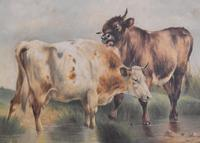 Large Oil Painting by William Perring Hollyer Titled 'Courtship' (6 of 10)