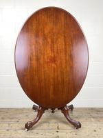 Victorian Mahogany Oval Tilt Top Table (9 of 12)
