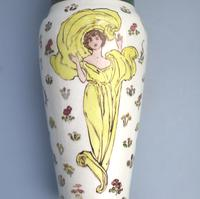 Margaret E Thomson : Royal Doulton Lambeth Faience Vase Mucha Style C.1900 (4 of 10)
