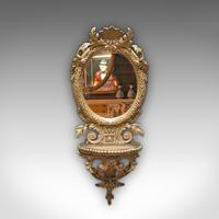Antique Wall Mirror. French, Gilt Gesso, Oval, Ornate, Victorian c.1850 (4 of 9)
