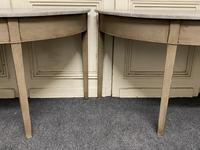 Pair of Georgian Painted Demi Lune Console Tables (17 of 22)