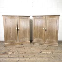 Pair of Rustic Antique Pine Cupboards