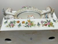 Pair of Small Dresden Victorian Style Porcelain Cherub Table Mirrors (11 of 60)