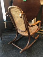 Antique Thonet Bentwood Rocking Chair Rare Stamped (3 of 6)