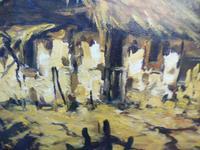 Large oil on canvas The Plantation Brazilian artist Chediac (5 of 10)