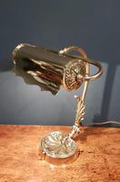 Superb Antique Brass Adjustable Desk Lamp (2 of 7)