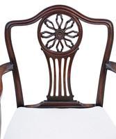 Set of 8 (6+2) Georgian Mahogany Dining Chairs c.1820 (6 of 10)