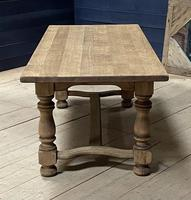 Deep Bleached Oak French Farmhouse Dining Table (17 of 20)