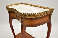 Antique French Marble Top Kidney Side Table (7 of 11)