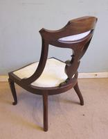 Antique Inlaid Mahogany Occasional Chair (6 of 7)