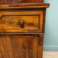 Superb Quality Victorian Mahogany Antique Glazed Secretaire Bookcase On Cupboard (5 of 8)