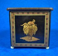 Mid Victorian Sorento Ware Inlaid Single Tea Caddy (7 of 7)