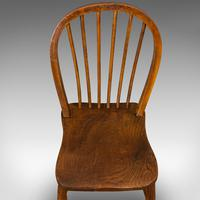 Antique Stick Back Chair, English, Elm, Beech, Station Seat, Victorian c.1870 (4 of 12)