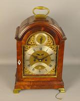 Fine Mahogany Verge Triple Pad Top Bracket Clock - Martineau, London (3 of 13)