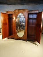 Fine Quality Early 20th Century Mahogany Breakfront Wardrobe (2 of 9)