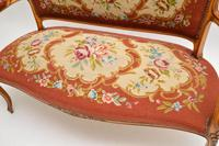 Antique French Needlepoint Salon Two Seater Sofa (9 of 12)