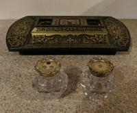 Silver-Mounted 'Boulle-Work' Desk Stand (2 of 4)