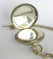 1930s Recta Pocket Watch & Chain (3 of 5)
