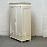 Small Double Painted Old Pine Wardrobe - Dismantles (4 of 4)
