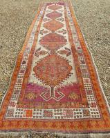 Antique Sarab Carpet Runner Rare Colours (8 of 9)