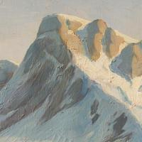 Emanuel A Petersen, Arctic Landscape With Inuit, Oil Painting (4 of 8)