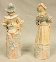 Pair of Bisque Figurines of Young Boy & Girl (3 of 8)