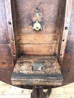 Early 19th Century Antique Oak Pillar Table (7 of 7)