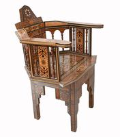 Pair of Damascan Chairs Inlay Arabic Syrian Interiors c.1920 (11 of 12)