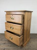 Antique Pine Chest of Drawers on a Plinth Base (4 of 13)