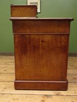 Antique Satin Birch Pedestal Desk by Heal & Sons (6 of 21)