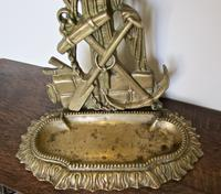 Unusual Nautical Brass Stick or Umbrella Stand  in shape of Sailor (4 of 6)