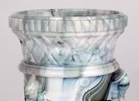 Sowerby / Edward Moore Marbled Slag Glass Gryphon Vase c.1880 (12 of 16)