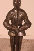 Iron Fireplace Companion Set Representing A Knight (4 of 9)