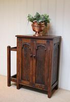 Edwardian Oak Hall Cabinet (2 of 10)