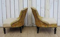 Pair of French Boudior Tub Armchairs for re-upholstery (5 of 8)