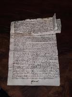 1440 A.D Medieval James ll of Scotland Period Vellum Document