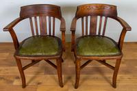 Vintage 1930s Oak Office Chair With Fresh Leather Seat x 2 (11 of 11)