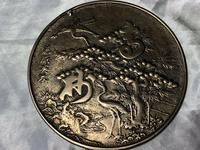 Antique 19th Century Japanese Hand Held Dragon Bronze Mirror (11 of 11)