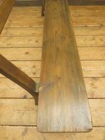 Antique Elm & Pine Sunday School Bench, Rustic Hall Seat (4 of 14)
