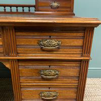 High Quality Victorian Maple & Co Antique Pedestal Desk (2 of 9)