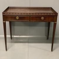 Exceptional Georgian silver table with fret gallery top (6 of 13)